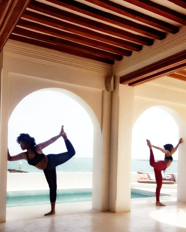 yoga in forodhani house lamu